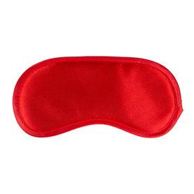 Rood satijnen oogmasker