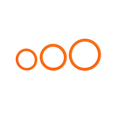 Cockring set - drie maten - oranje