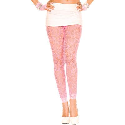 Kanten Legging Met Bloemenpatroon - Roze